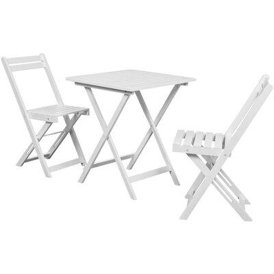 2-Sitzer Balkonset Dodson | Garten > Balkon > Balkon-Sets | White | Massivholz - Rattan | Lynton Garden