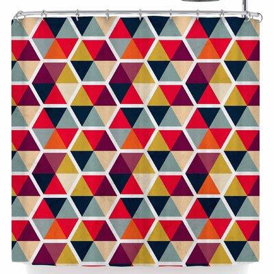 Tobe Fonseca Colorful Umbrellas Geometric P Shower Curtain