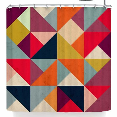 Tobe Fonseca Bright Geometric Happy Shower Curtain