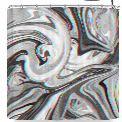 Tobe Fonseca Marble Glitch Shower Curtain