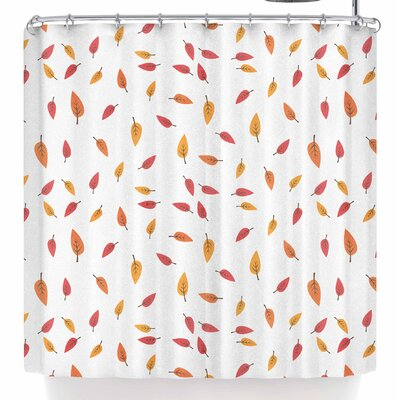 Tobe Fonseca Falling Leaves Autumn Shower Curtain