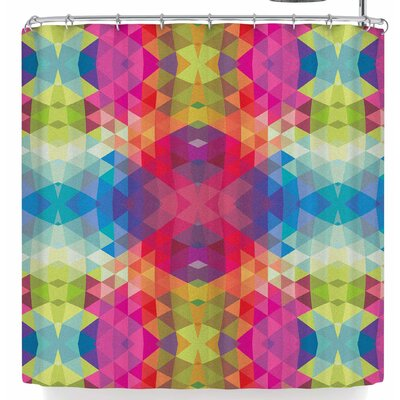 Tobe Fonseca Geometric Fractal Kaleidoscope Shower Curtain