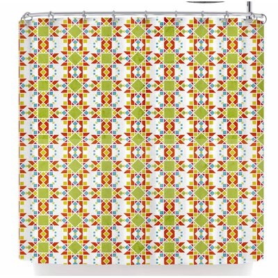 Tobe Fonseca Geometric Lines Native Shower Curtain
