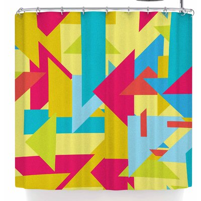 Tobe Fonseca Geometric Shapes Vintage Shower Curtain