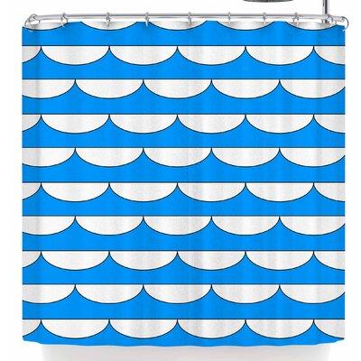 Trebam Valovi V.3 Shower Curtain