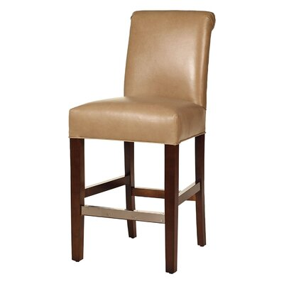 Hunter 26 Bar Stool Base Finish: Dark Walnut, Upholstery: Suede