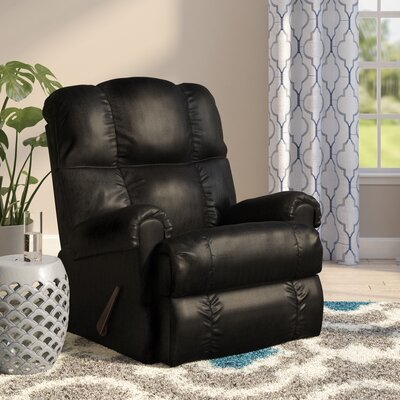 Broadcommon Manual Rocker Recliner Upholstery: Apache Black