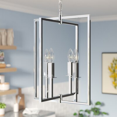 Allston 4-Light Foyer Pendant Finish: Chrome