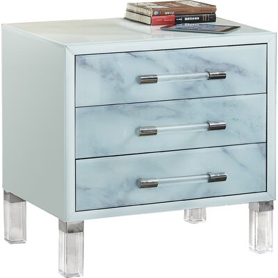 Clarendale 3 Drawer Nightstand