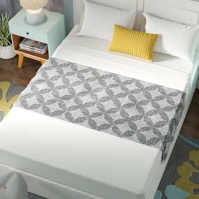 Nick Atkinson Diamond Bed Runner Color: Black