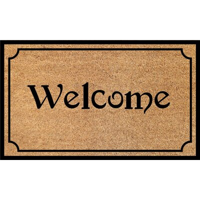 Bansom PVC Back Printed Doormat Mat Size: Rectangle 1 5 x 2 5