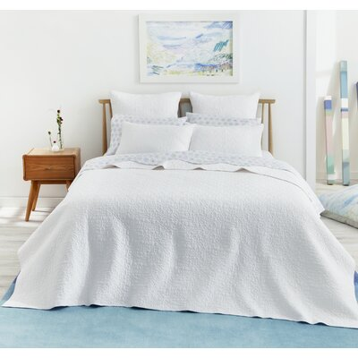 Fern Pillow Sham Size: Standard, Color: White
