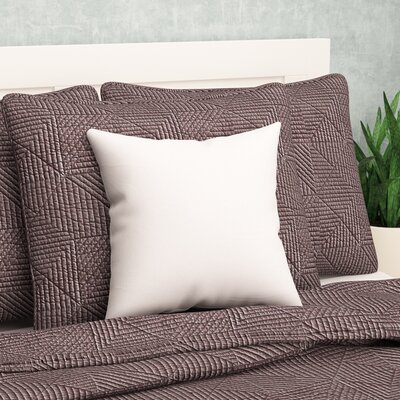 Square Pillow Insert with Zippered Cover Size: 12 H x 12 W x 3 D