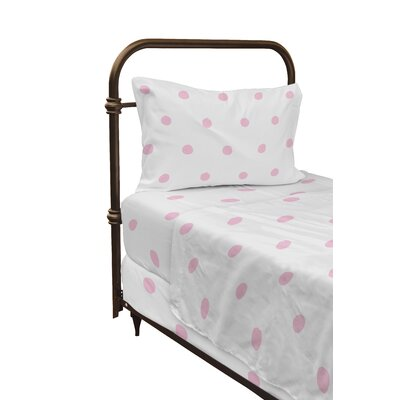 Dessert Polka Dot Sheet Set Size: Twin, Color: Pink