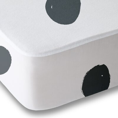 Dessert Polka Dot Sheet Set Size: Queen, Color: Gray