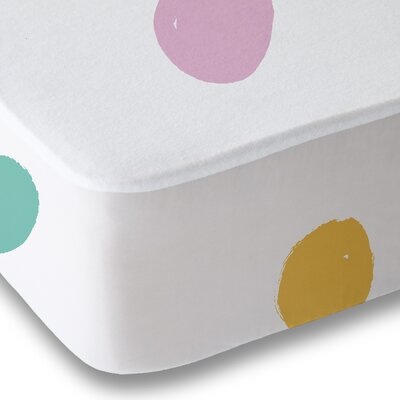 Dessert Polka Dot Sheet Set Size: Queen, Color: Pink/Yellow/Teal
