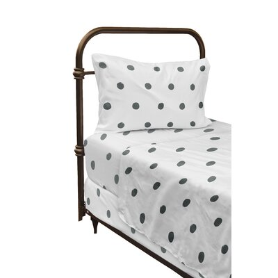 Dessert Polka Dot Sheet Set Size: Twin, Color: Gray