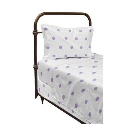 Dessert Polka Dot Sheet Set Size: Twin, Color: Purple