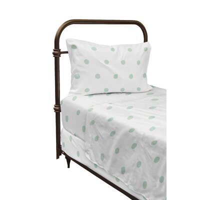 Dessert Polka Dot Sheet Set Size: Twin, Color: Green