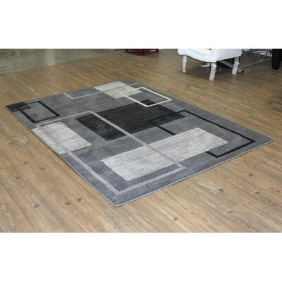 Brawley Gray Indoor Area Rug Rug Size: Rectangle 8 x 11