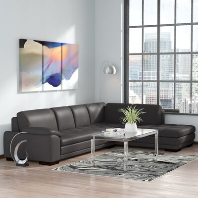 Casselman Leather Sectional Orientation: Right Hand Facing