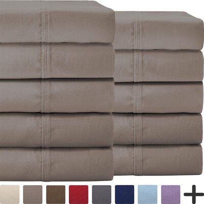 Pavia Double Brushed Microfiber Sheet Set Color: Taupe