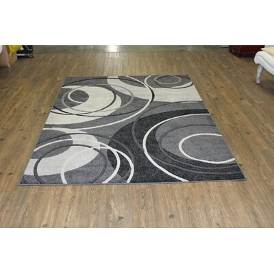 Yarbro Gray Indoor Area Rug Rug Size: Rectangle 5 x 8
