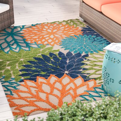 Nathalie Cream Indoor/Outdoor Area Rug Rug Size: Rectangle 53 x 75