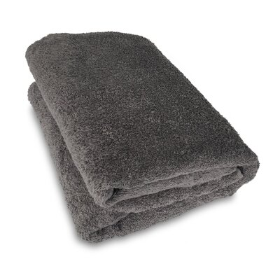 Ethan Towels Cotton Oversized Bath Sheet Color: Gray