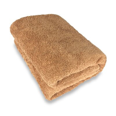 Ethan Towels Cotton Oversized Bath Sheet Color: Brown