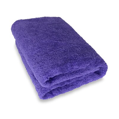 Ethan Towels Cotton Oversized Bath Sheet Color: Purple