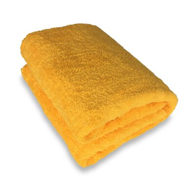 Ethan Towels Cotton Oversized Bath Sheet Color: Yellow