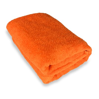 Ethan Towels Cotton Oversized Bath Sheet Color: Orange