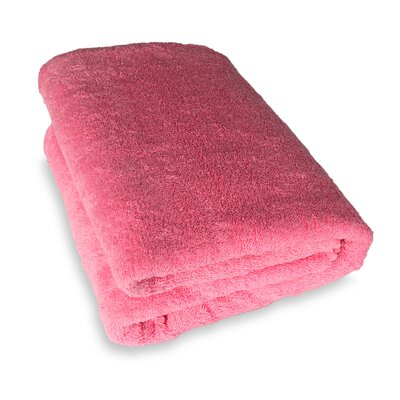 Ethan Towels Cotton Oversized Bath Sheet Color: Pink