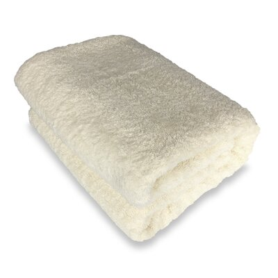 Ethan Towels Cotton Oversized Bath Sheet Color: Beige