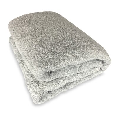 Ethan Towels Cotton Oversized Bath Sheet Color: Silver