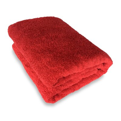 Ethan Towels Cotton Oversized Bath Sheet Color: Red