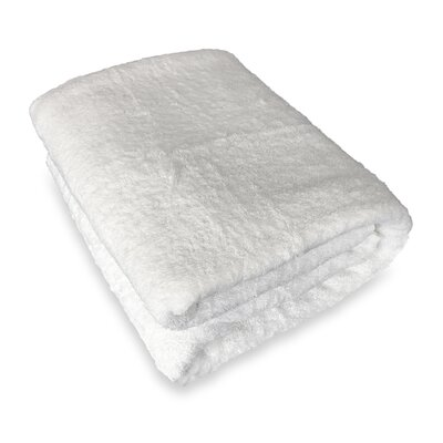 Ethan Towels Cotton Oversized Bath Sheet Color: White