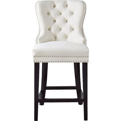 Costigan Velvet 26 Bar Stool Color: Cream