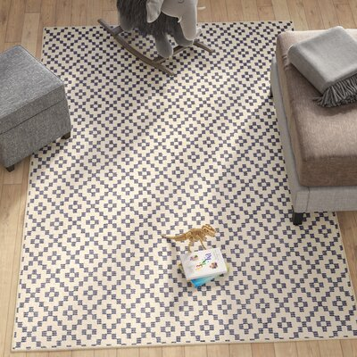 Paulette Simple Lattice Indigo Area Rug Rug Size: Rectangle 53 x 710
