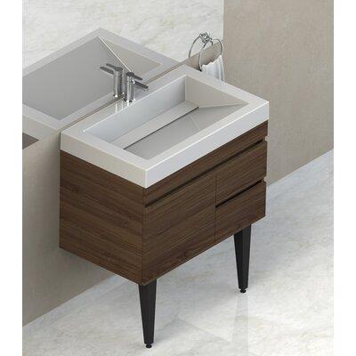 Byrns 31 Wall-Mounted Single Bathroom Vanity Set Base Finish: Walnut