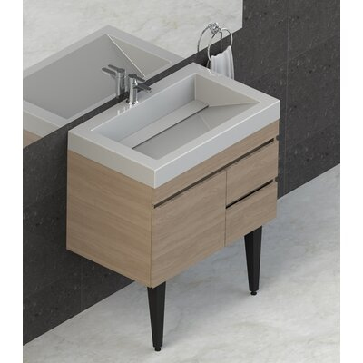 Byrns 31 Wall-Mounted Single Bathroom Vanity Set Base Finish: Latte