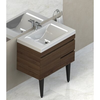 Byrns 31 Single Bathroom Vanity Set Base Finish: Walnut