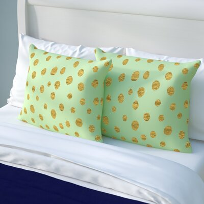 Nika Martinez 'Golden Dots' Pillow Case