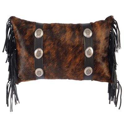 Conchos Leather Lumbar Pillow Color: Brindle