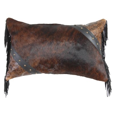 Cosmopolitan Specialty Leather and Leather Suede Fringe Throw Pillow Color: Brindle