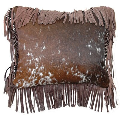 Speckled Hair on Hide Fargo Leather Fringe Throw Pillow Color: Brindle