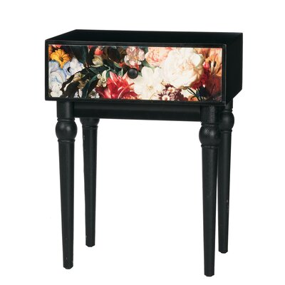 Downend Floral 1 Drawer End Table