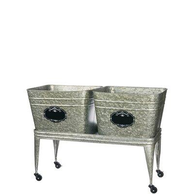Locking Wash Tubs On Stand Metal Planter Box 7E3EC8DD3A224CDBB3560D0EA8BBB0E6
