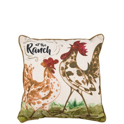 Charland Rooster Throw Pillow